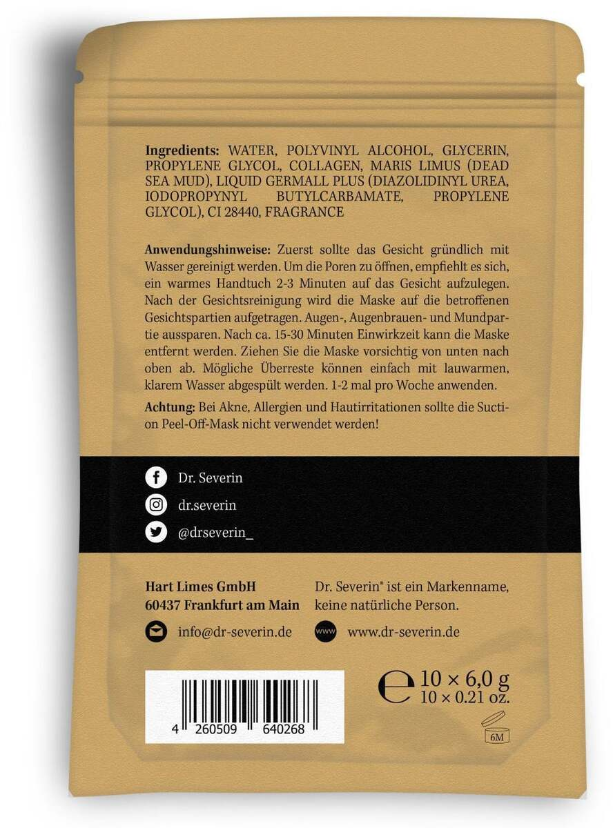 Bild 2 von Dr. Severin® Blackhead Remover Peel-Off-Masken 24.98 EUR/100 g