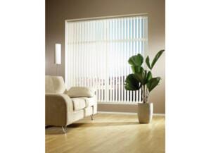 Vertikallamellenvorhang, weiß, ca. 150 x 250 cm