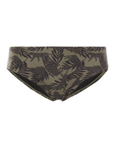 Damen Bikini-Slip mit Allover-Muster