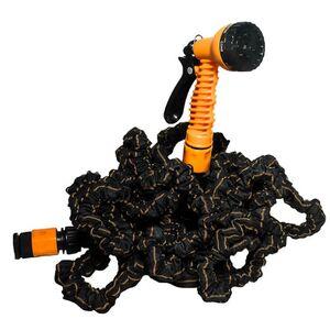 EASYmaxx Gartenschlauch flexibel 30m schwarz/orange mit Multi-Gartenbrause
