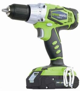 Greenworks Akkubohrschrauber 3702307GL ,  24 V, inkl. 2. Akku 4,0 Ah, bürstenlos, Ladegerät
