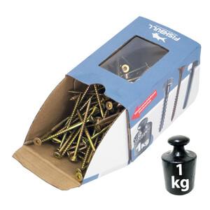 Spanplattenschraube 3,0x20 PZ 1kg Pack Senkkopf Vollgewinde Kreuzschlitz