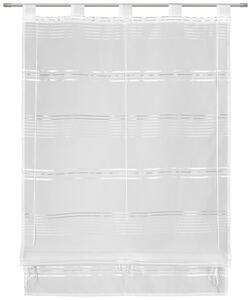 Bändchenrollo Loius Weiß 80x140cm