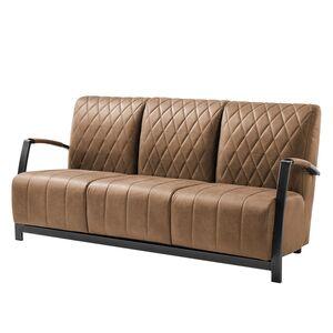 Sofa Manchester III (3-Sitzer) Antiklederlook - Cubanit, ars manufacti