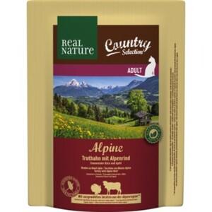 Real Nature Country Alpine mit Truthahn & Alpenrind; mit  Emmentaler-Käse und Apfel
