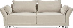 Sofa Beige mit Bettfunktion