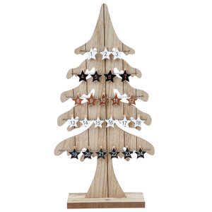 Adventskalender Tannenbaum 60 cm aus MDF-Holz