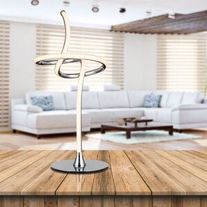 home24 LED-Tischleuchte Wave Knot