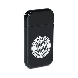 FCB USB-Feuerzeug mit Glühspirale 3,7V schwarz 200mAh mit weißem Logo