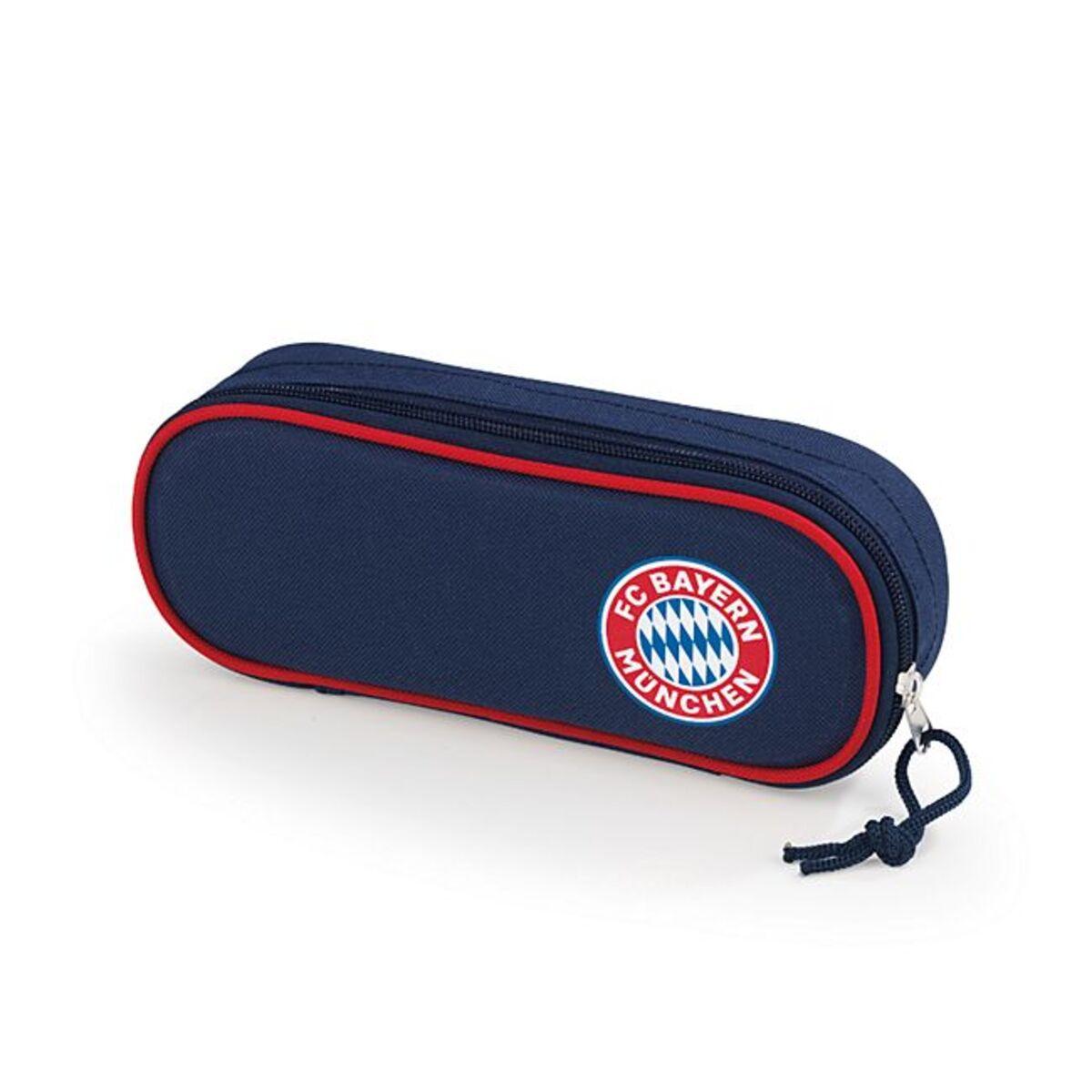 Bild 1 von FCB Faulenzermäppchen Mia san Mia blau/rot mit Logo