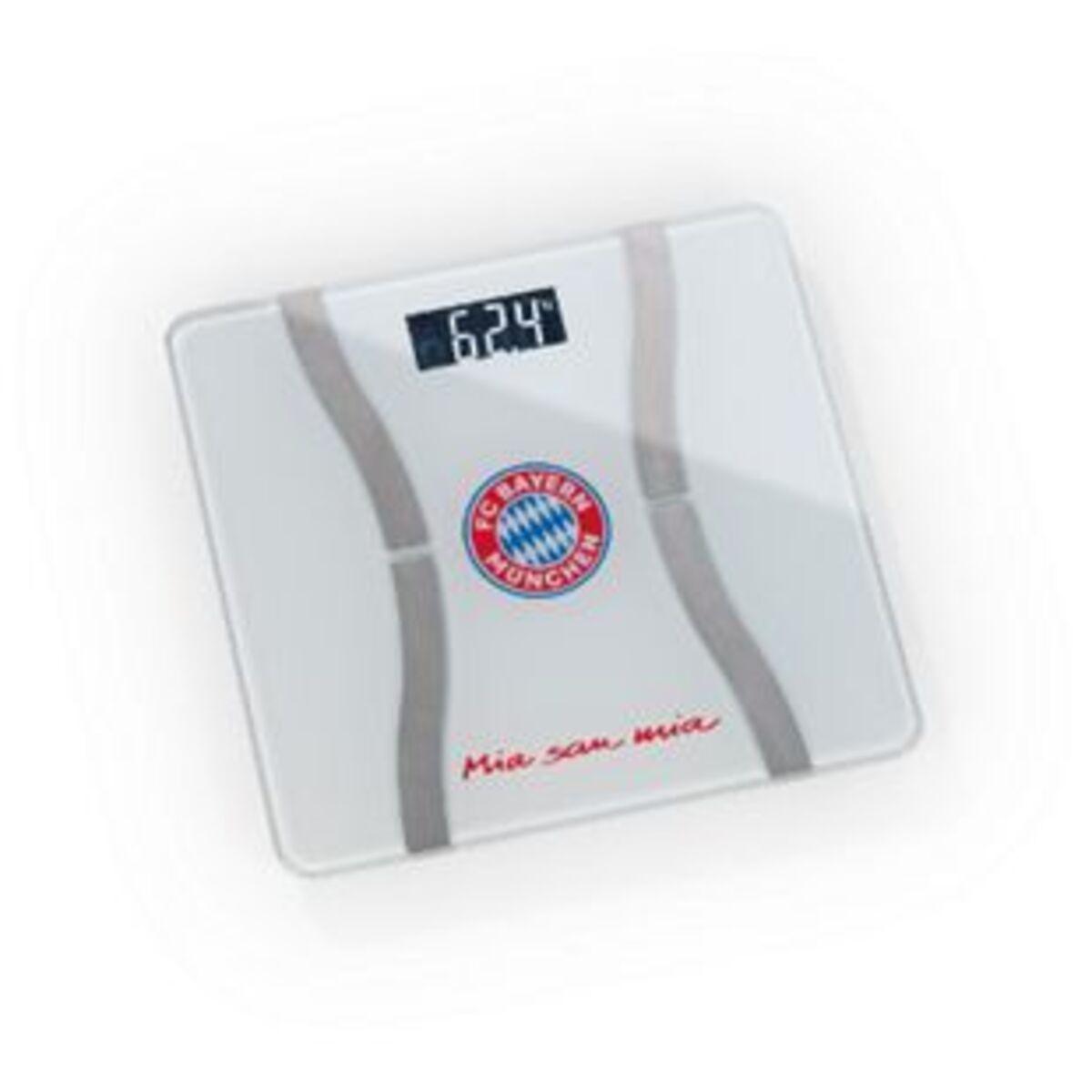 Bild 2 von FCB Personen-Waage Körperanalyse Mia san Mia 3V weiß/silber mit Bluetooth & Logo