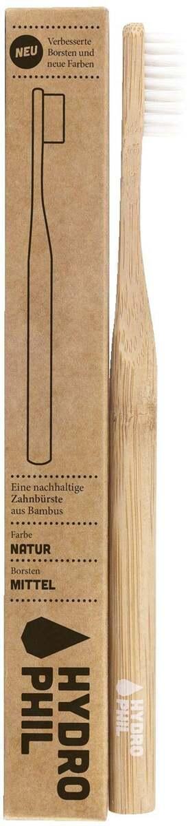 Bild 1 von HYDROPHIL Nachhaltige Zahnbürste natur mittelweich