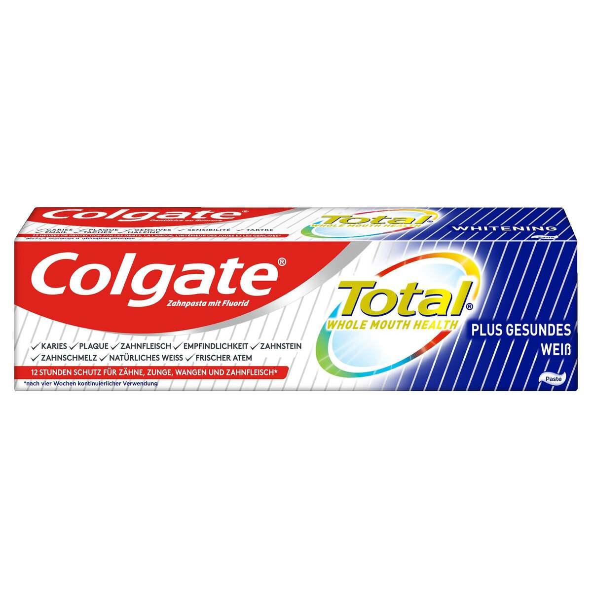 Bild 1 von Colgate Total Plus Gesundes Weiß Zahnpasta 2.65 EUR/100 ml