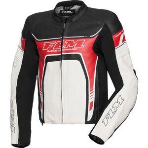 FLM            Sports Leder Kombijacke 2.1 schwarz/weiß/rot