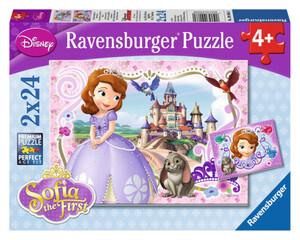 Puzzle-Box - Sofia die Erste - Sofias königliche Abenteuer - 2x 24 Teile