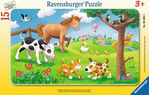 Rahmenpuzzle - Knuffige Tierfreunde - 15 Teile