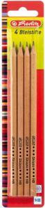 Herlitz Bleistifte Skizzo natur HB 4 Stück FSC