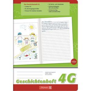 Brunnen - Geschichtenheft DIN A4 - Lineatur 4G