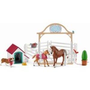 Schleich 42458 Horse Club Gastpferde mit Hündin