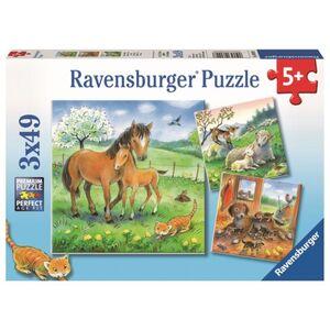 Puzzle-Box - Kuschelzeit - 3x 49 Teile