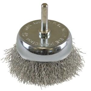Topfbürste grob gewellt Ø75mm Stahldraht Drahtbürste Stahldrahtbürste