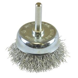Topfbürste grob gewellt Ø50mm Stahldraht Drahtbürste Stahldrahtbürste