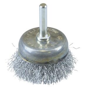 Topfbürste fein gewellt Ø50mm Stahldraht Drahtbürste Stahldrahtbürste