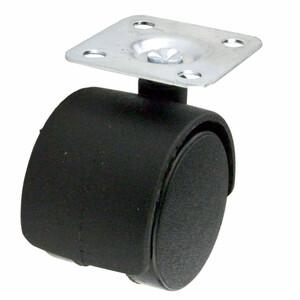 Möbelrolle Lenkrolle Ø40mm PVC Tragkraft 25kg schwarz Transportrolle Laufrolle