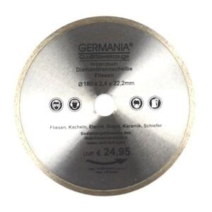 Diamanttrennscheibe 180x2,4x22,2mm Fliesen Kacheln Schiefer Eternit Trennscheibe