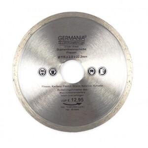 Diamanttrennscheibe 115x2,0x22,2mm Fliesen Kacheln Schiefer Eternit Trennscheibe