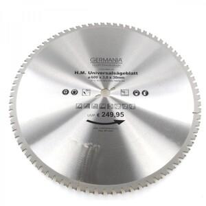 HM Multi Sägeblatt 600x30mm 80Zähne universal Alu Holz Kunststoff Kreissägeblatt