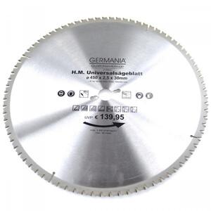 HM Multi Sägeblatt 450x30mm 80Zähne universal Alu Holz Kunststoff Kreissägeblatt