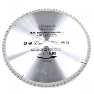 HM Multi Sägeblatt 400x30mm 80Zähne universal Alu Holz Kunststoff Kreissägeblatt