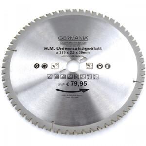 HM Multi Sägeblatt 315x30mm 60Zähne universal Alu Holz Kunststoff Kreissägeblatt