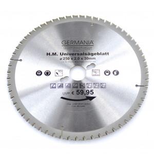 HM Multi Sägeblatt 250x30mm 60Zähne universal Alu Holz Kunststoff Kreissägeblatt