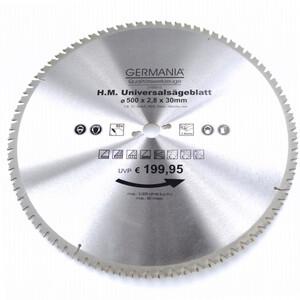 HM Multi Sägeblatt 500x30mm 80Zähne universal Alu Holz Kunststoff Kreissägeblatt