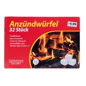 Germania Grillanzünder 32 Stück in Würfelform