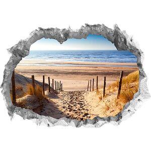 Wandtattoo 3D Weg zum Strand mehrfarbig