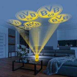 BVB LED-Echtwachskerze Projektor 3V gelb mit Logo