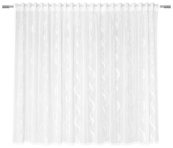 Fertigvorhang Wave Store Weiß 300x175cm