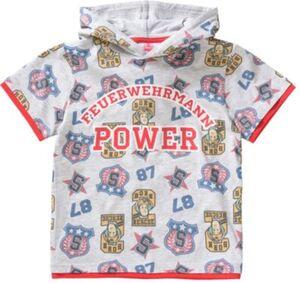 Feuerwehrmann Sam T-Shirt mit Kapuze Gr. 116/122 Jungen Kinder