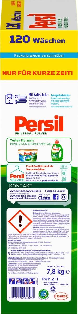 Bild 3 von Persil Universal Pulver Vollwaschmittel 120 WL 0.24 EUR/1 WL