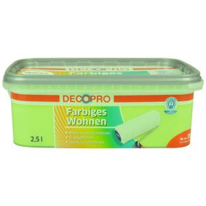 DecoPro Wandfarbe 2,5 Liter jade matt