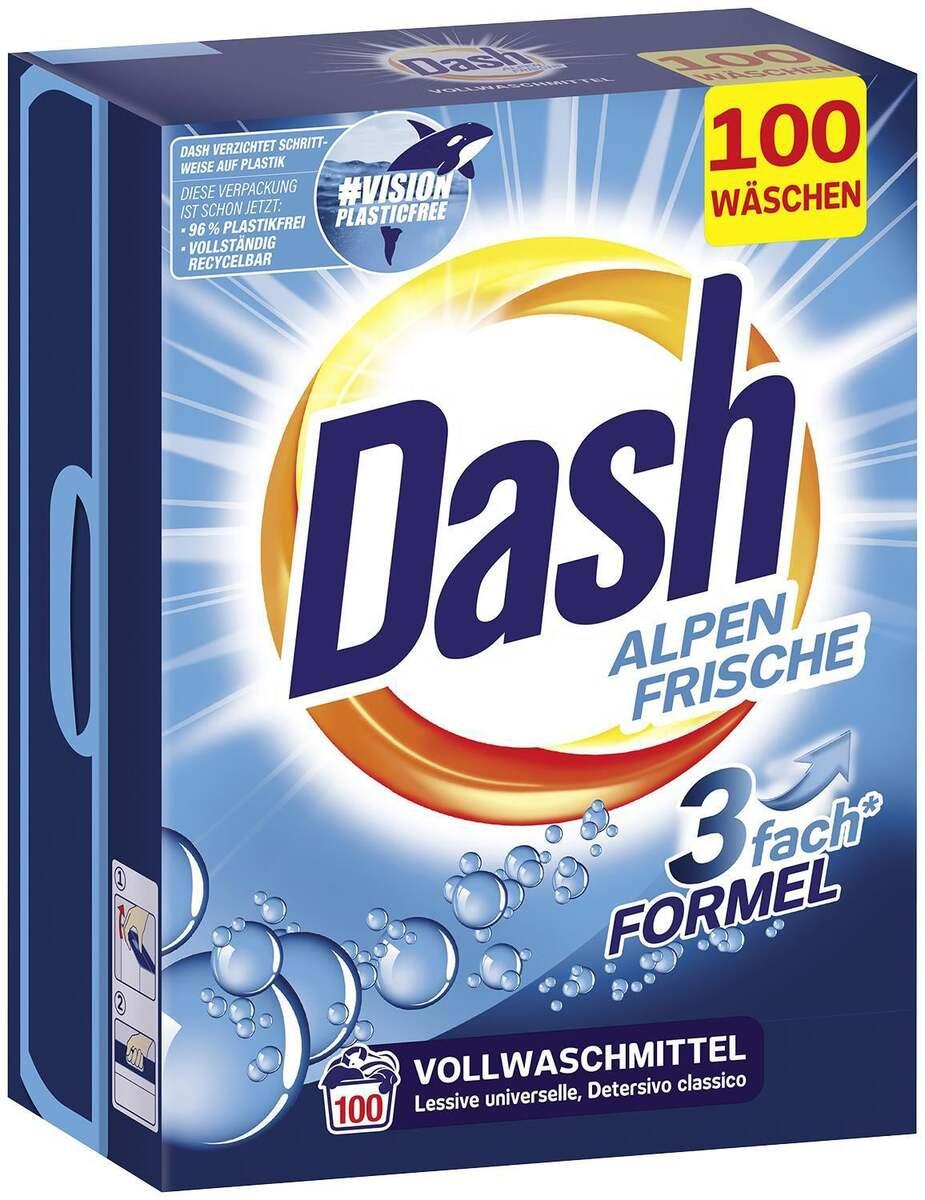 Bild 1 von Dash Vollwaschmittel Pulver Alpen Frische 100 WL 0.10 EUR/1 WL