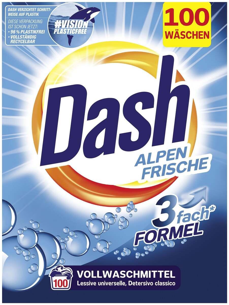 Bild 2 von Dash Vollwaschmittel Pulver Alpen Frische 100 WL 0.10 EUR/1 WL