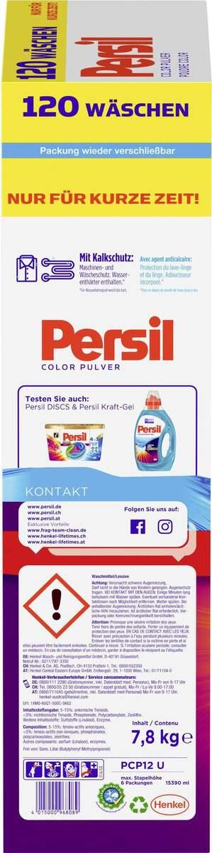 Bild 3 von Persil Colorwaschmittel Pulver 120 WL 0.21 EUR/1 WL