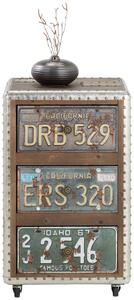 Rollcontainer Braun/bunt
