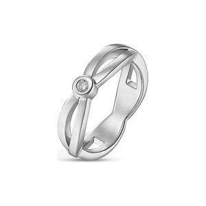 CHRIST Silver Diamonds Damenring 87532127