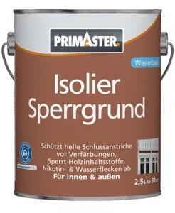 Primaster Isoliersperrgrund ,  2,5 l, weiß, wasserverdünnbar