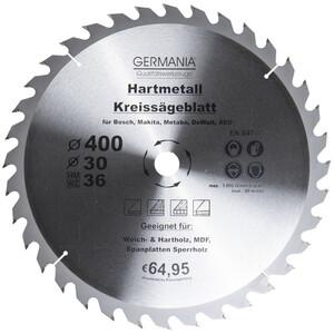 Germania Hartmetall Kreissägeblatt Ø 400 mm Holz